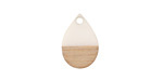 Wood & Alabaster Resin Teardrop Focal 11x17mm