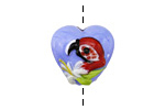 Grace Lampwork Red Parrot Heart 19-20mm