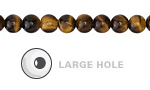 Tiger Eye Round (Large Hole) 6mm
