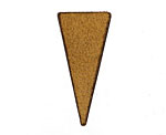 Lillypilly Rustic Brown Leather Triangle Tag 17x36mm