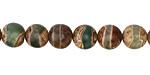 Tibetan (Dzi) Agate Gray-Green Banded Round 8mm