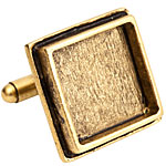 Nunn Design Antique Gold (plated) Traditional Square Bezel Cuff Link 21mm
