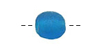 African Recycled Glass Capri Blue Tumbled Round 10-12mm