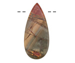 Red Creek Jasper Elongated Flat Teardrop 21x56-57mm