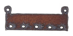The Lipstick Ranch Rusted Iron Rectangle Link w/ Holes 44x17mm