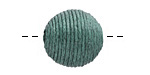 Peacock Green Thread Wrapped Bead 18mm