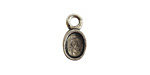 Nunn Design Antique Silver (plated) Bitsy Oval Bezel Charm 6x11mm
