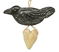 Gaea Ceramic Nevermore Raven with Love Bundle