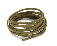 Olive Microsuede Flat Cord 3mm
