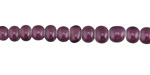 African Trade Beads Purple White Heart Glass 4-5x6-7mm