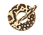 Saki Bronze Ocean Splash Toggle Clasp 33mm, 38mm bar