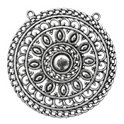 Zola Elements Antique Silver (plated) Medalion Filigree Focal 52mm