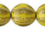 Mustard w/ Speckles Porcelain Melon 27x24mm