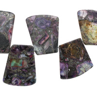 Purple Mosaic Stone w/ Pyrite Graduated Ladder 24-28x20-34mm
