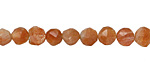 Sunstone Faceted Coin 6-7x8mm