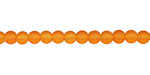 Tangerine Recycled Glass Round 4mm