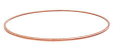 Nunn Design Antique Copper (plated) Small Flat Bangle Bracelet 70mm