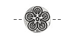 Pewter Flower Button 20mm