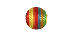 Carnival Thread Wrapped Bead 14mm