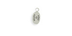 Vintaj Antique Sterling Silver (plated) Oval USA Jewelry Tag 5x11mm