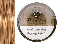 Vintaj Solid Brass Wire 26 gauge, 120ft.