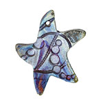 Xaz Raku Stan's Blue Star 33-35x38-40mm
