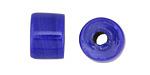 African Recycled Glass Cobalt Barrel 12x14mm