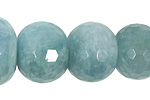 Aquamarine Faceted Rondelle Graduated 8-22mm