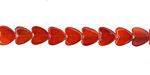 Carnelian Heart 6mm