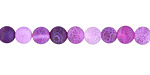 Purple Fire Agate (matte) Round 6mm