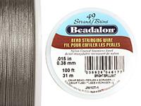 "Beadalon Bright .015"" 49 Strand Wire 100ft."