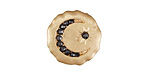 Zola Elements Matte Gold (plated) Crescent & Star Crystal Disc 7mm Flat Cord Slide 18mm