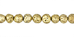 Metallic Gold (plated) Lava Rock Round 6mm