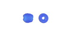 African Recycled Glass Capri Blue Tumbled Round 6-7mm