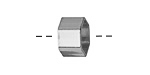 Silver (plated) Hexagon Noodle Bead 8x12mm