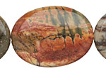 Red Creek Jasper Flat Oval 40x30mm