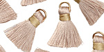 Wheat w/ Harvest Gold Binding & Jump Ring Thread Tassel 17mm