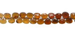 Hessonite Ombre Faceted Flat Teardrop 4.5-5mm