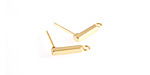 Gold (plated) Stainless Steel Bar w/ Loops Post Earring 2x13mm