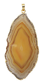 Carnelian (natural) Freeform Slab with Gold Plating 29-35x52-82mm