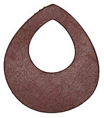 Lillypilly Burgundy Leather Large Open Teardrop 49x54mm