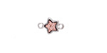 Metallic Bronze Crystal Druzy Star Link in Silver Finish Bezel 12x8mm