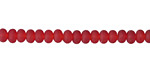 Cherry Red Recycled Glass Rondelle 3x5mm