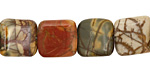 Red Creek Jasper Puff Square 10mm