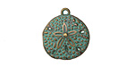 Zola Elements Patina Green Brass (plated) Sand Dollar Charm 18x20mm
