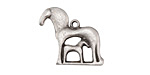 Greek Pewter Mare & Foal Charm 22x20mm