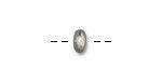TierraCast Rhodium (plated) Large Hole Hammertone Rondelle 4x7mm