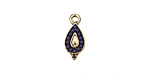 Zola Elements Antique Gold (plated) Beaded Indigo Teardrop Charm 7x15mm