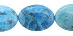 Larimar Blue Crazy Lace Flat Oval 25x18mm
