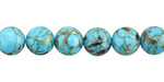 Turquoise Mosaic Shell Round 8-8.5mm